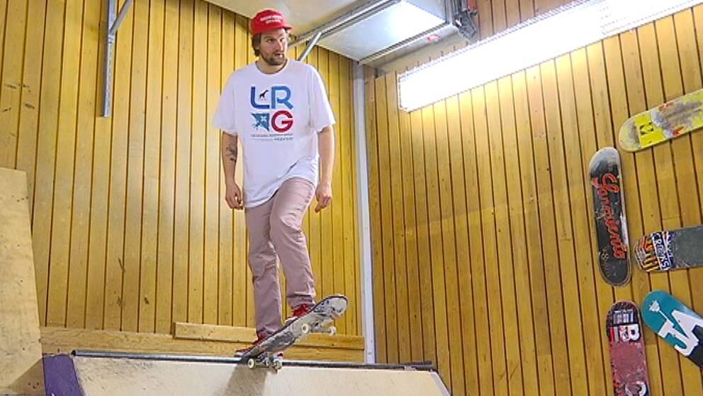 Fredrik Eriksson, kassör i Rullklubben Myggan