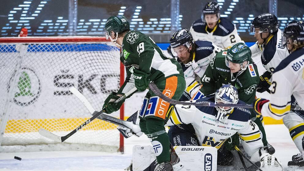 Oskar Steen gör mål mot HV71