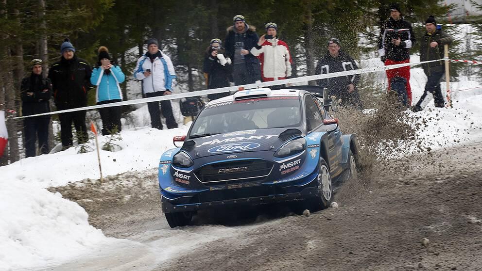 Teemu Suninen tappade (?) chansen att vinna Svenska rallyt med en krasch på lördagens andra sträcka.