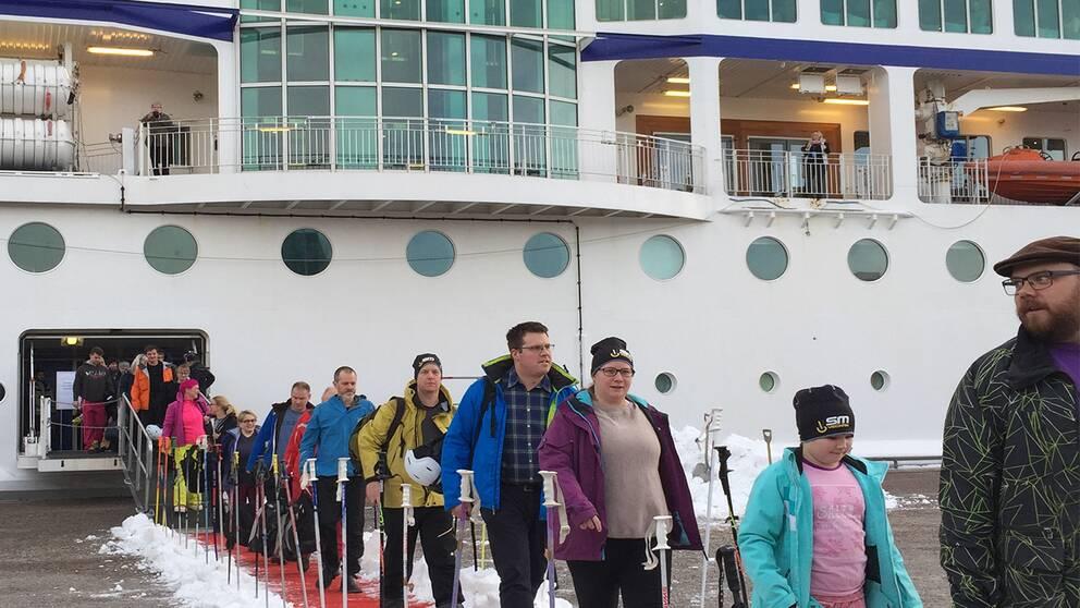 Vinterturister kommer till Sundsvall i helgen med kryssning