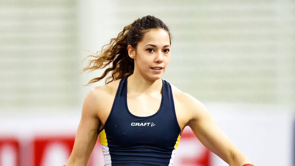 Angelica Bengtsson vann guld på inne-SM i Norrköping.