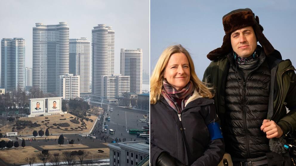 SVT:s team Ulrika Bergsten och Nicolai Zellmani på plats i Pyongyang