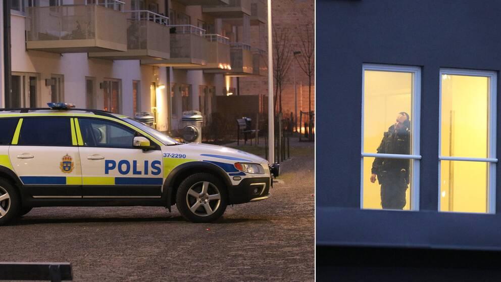 Polis på plats i västertorp
