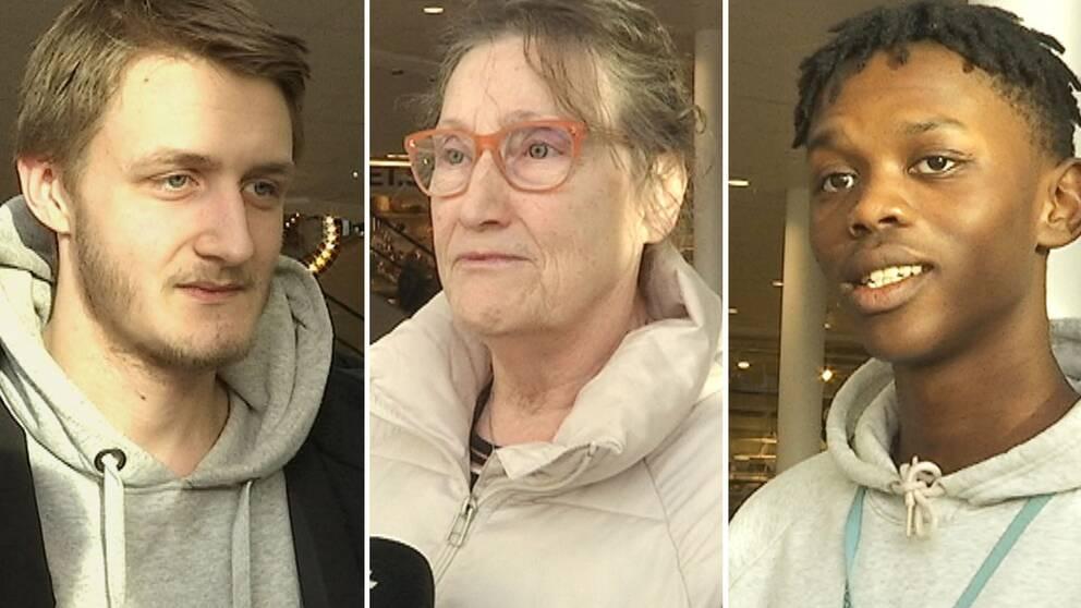 Porträtt på Joel Beckman, Kerstin Eskel och Arvid Östman.