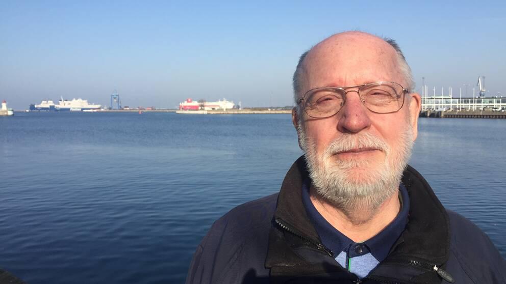 Jan Horck, fd sjökapten och lärare vid Malmö Sjöbefälsskola.