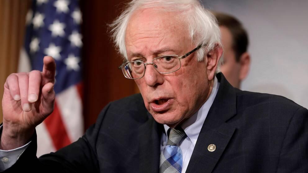 Demokraten Bernie Sanders ställer upp i det amerikanska presidentvalet.