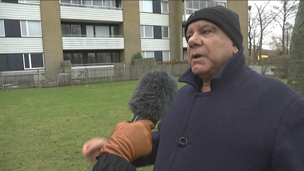 Under natten mot tisdag öppnade någon eld mot Ali Kasems lägenhet i Landskrona.