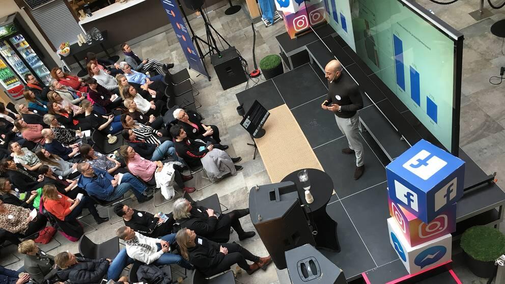 Facebooks sverigechef Sam Rihani talar i Kulturmagasinet