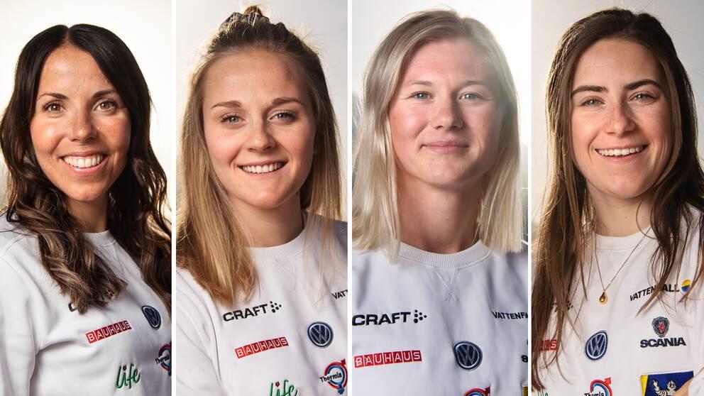 Charlotte Kalla, Stina Nilsson, Maja Dahlqvist och Ebba Andersson. Alla är medaljkandidater i VM. Sverige har aldrig haft ett bättre damlag, skriver Jacob Hård.