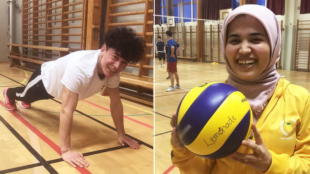 Alireza Sherzad och Hafezeh Rahimi är några av dem som brukar vara med på Lemonade IFs träningar.