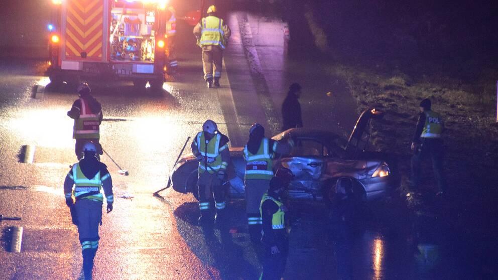 Två bilar var inblandade i en olycka i Malmö på tisdagskvällen.