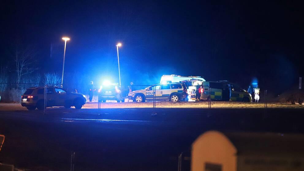 Polisen på plats i Upplands-Bro