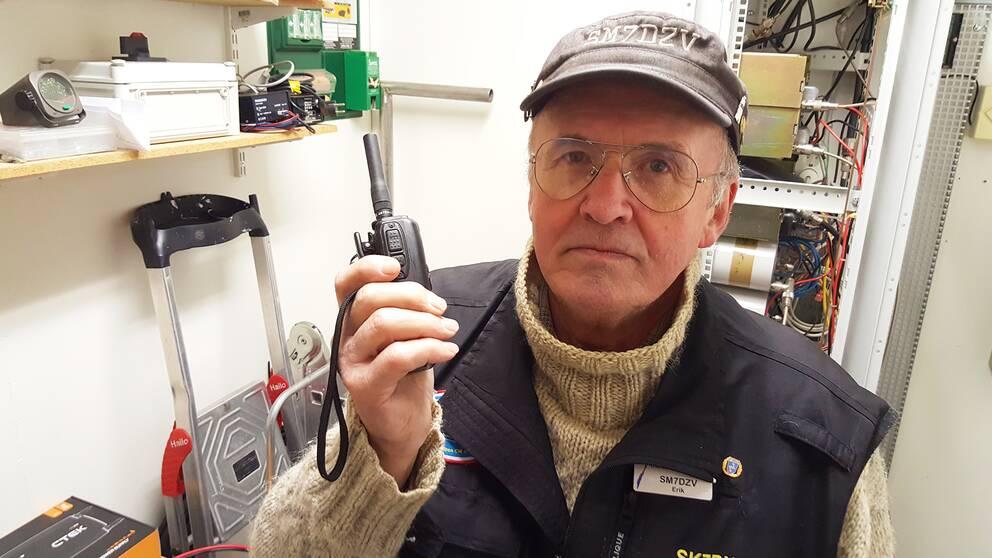 Porträtt på Erik Nyberg i radiobyggnaden.