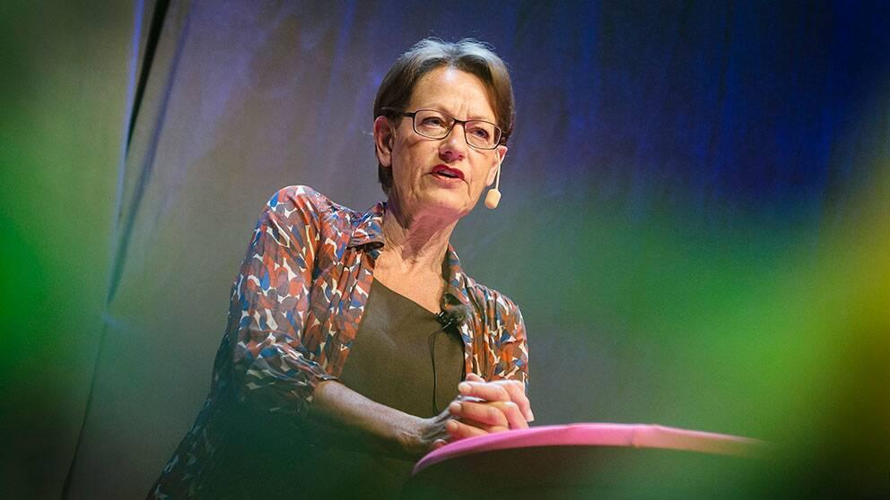Fi-ledaren Gudrun Schyman.