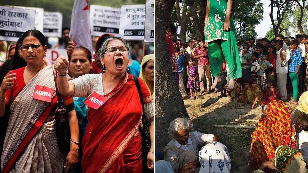 Kvinnoparti bildat i indien