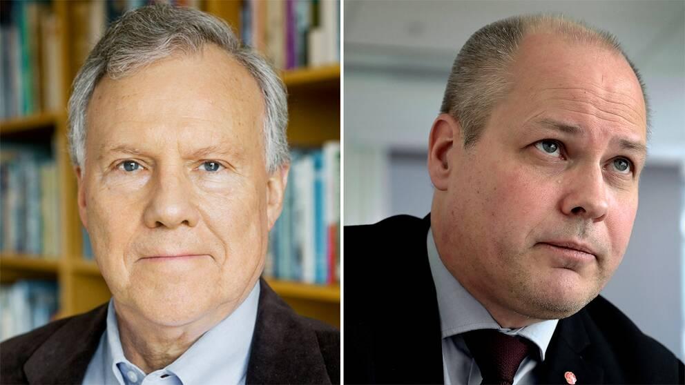 """Rättsexperten Ove Bring tycker att Morgan Johanssons (S) förslag om en internationell tribunal är """"egendomligt."""""""
