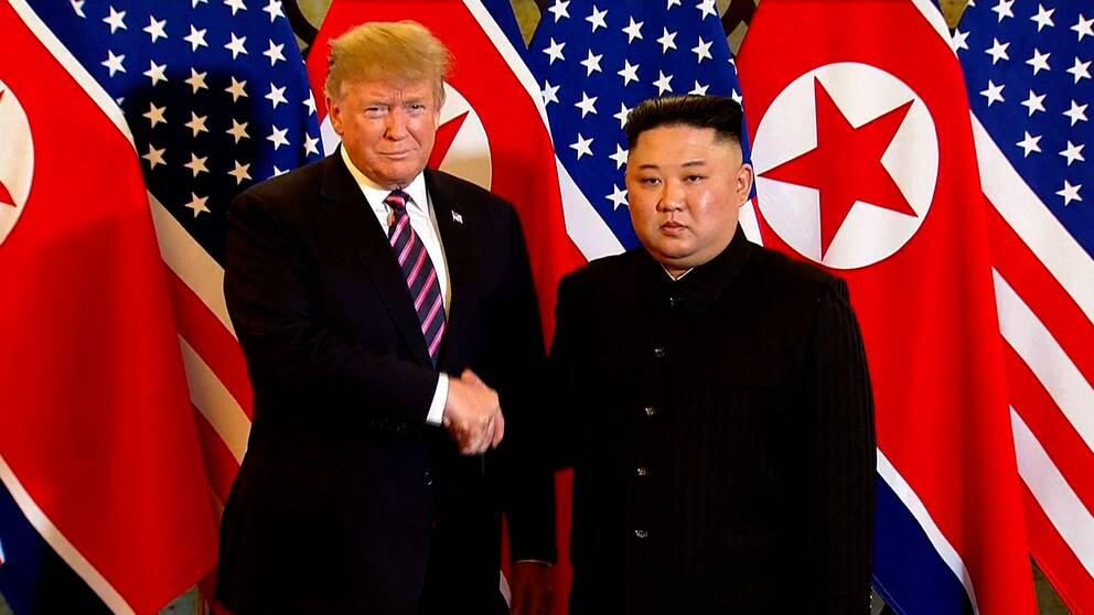 USA:s president Donald Trump möter den nordkoreanske ledaren Kim Jung Un i Vietnamn