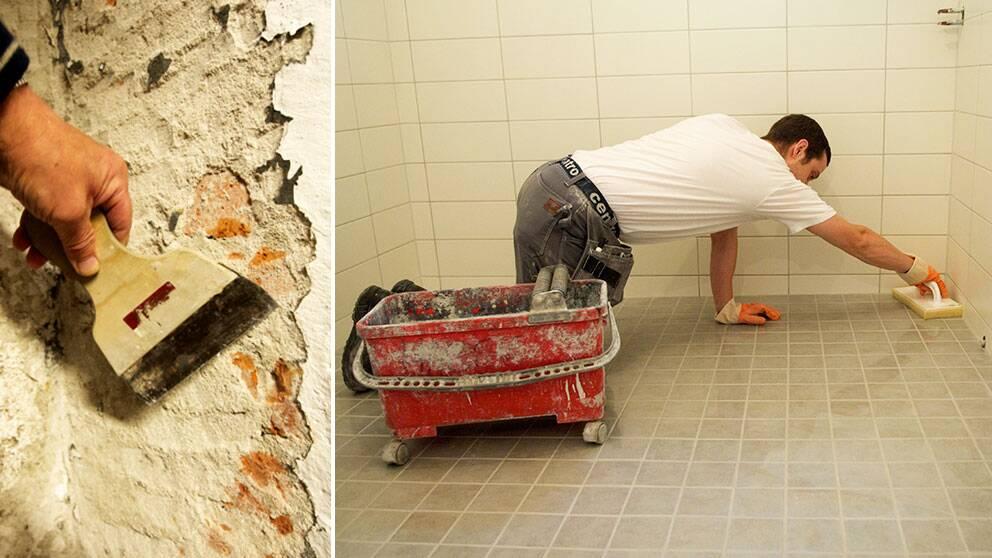 Vart tredje våtrum i svenska småhus är drabbat av allvarliga fukt- och mögelskador.