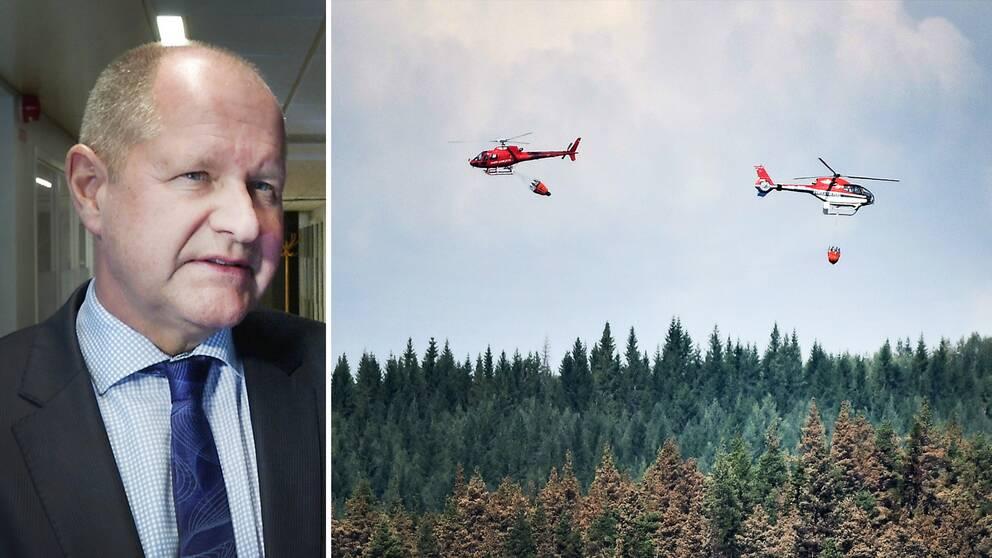MSB:s generaldirektör Dan Eliasson säger att han är övertygad om att Sverige kommer att kunna bygga en nationell resurs med privata brandhelikoptrar.
