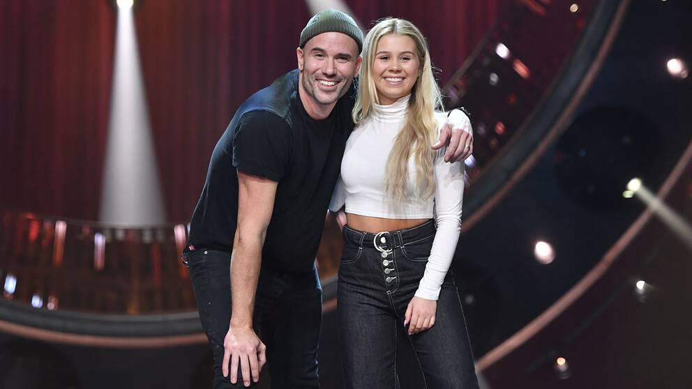 Martin Stenmarck och Lisa Ajax inför andra chansen i Melodifestivalen i Nyköpings Arenor Rosvalla.