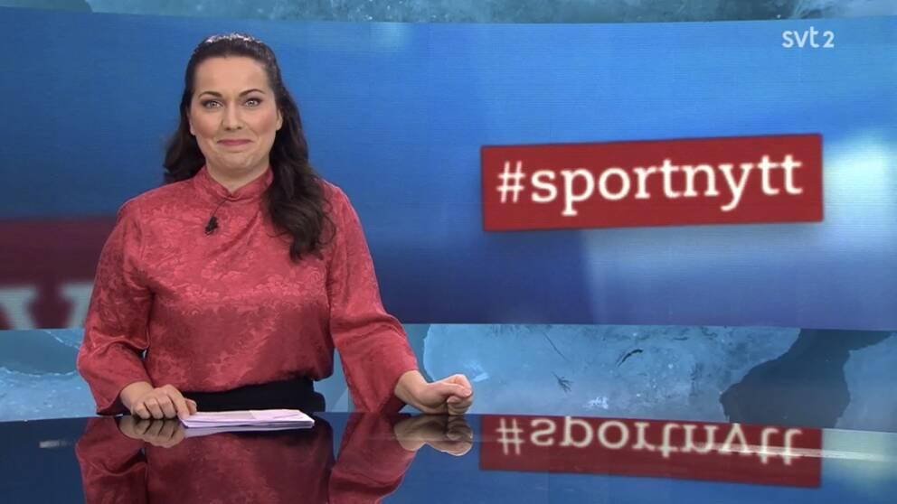 Therese Bosta, programledare för Sportnytt.