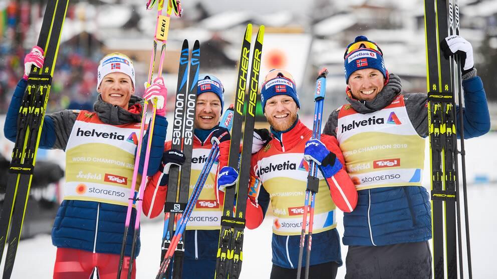 Norge vann alla guld på herrsidan.