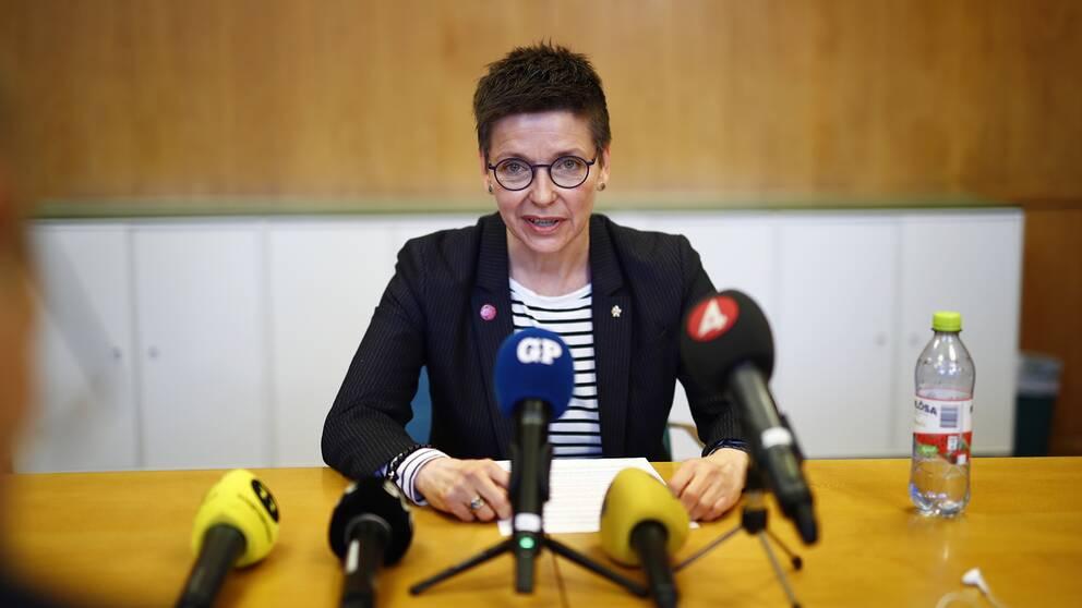 Se Ann-Sofie Hermansson på dagens presskonferens