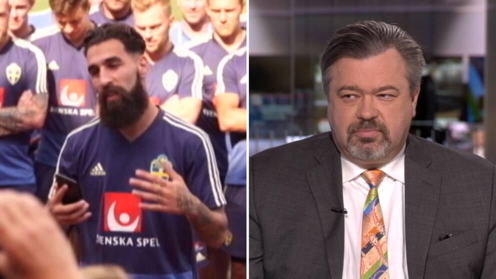 Stefan Wahlberg, chefedaktör Dagens Juridik, i Morgonstudion om hoten mot Jimmy Durmaz.