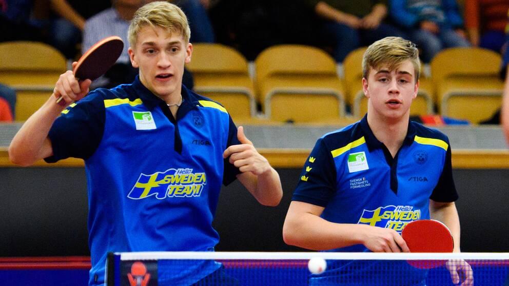 Från vänster: talangerna Anton Källberg och Truls Möregårdh.