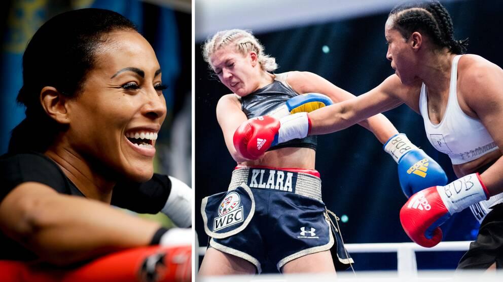 Norskan Cecilia Braekhus besegrade Klara Svensson i februari 2017 (högra bilden).