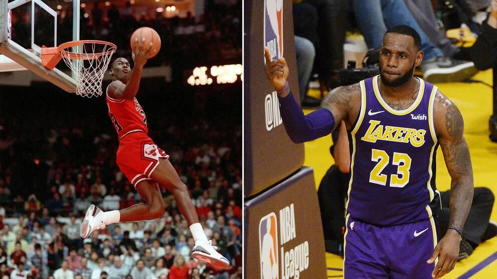 newest collection 47e7c 257c6 LeBron James, till höger, har gjort fler NBA-poäng än Michael Jordan.