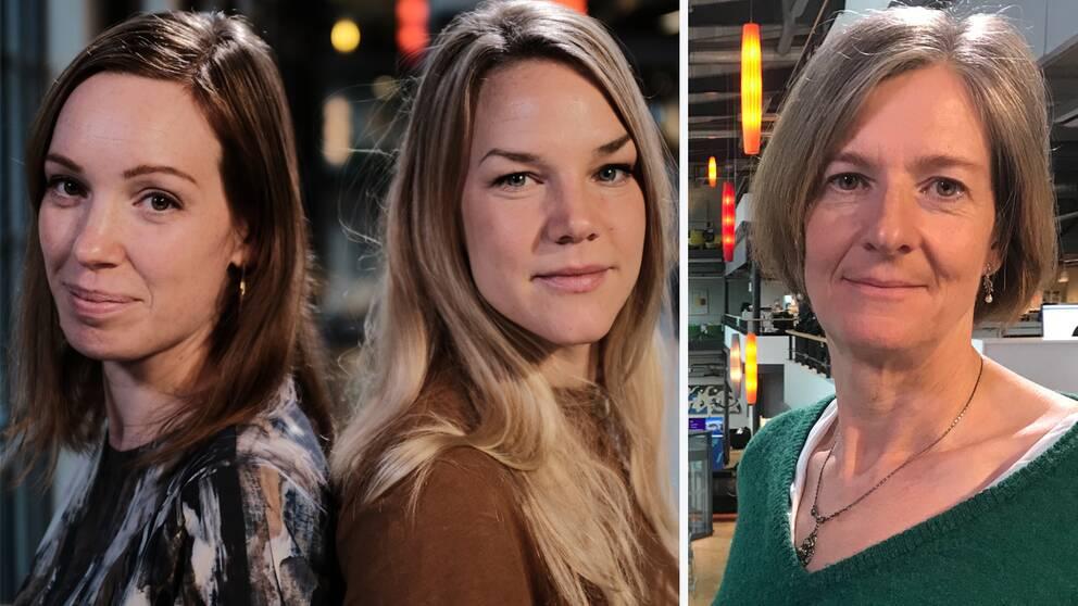 """SVT Nyheter Skånes Tove Hansson, Natalie Medic och Ylva Esping låg bakom satsningen """"All inclusive för gängkriminella"""""""