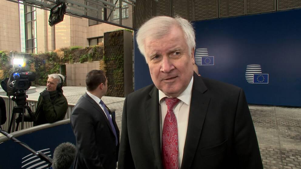 Tyske inrikesministern Horst Seehofer tycker att Mikael Dambergs (S) förslag om en IS-tribunal är bra.