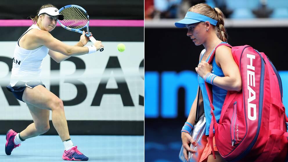 Varken Rebecca Peterson eller Johanna Larsson klarade sig förbi första omgången.