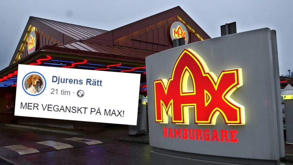 """Max nya satsning görs """"i samarbete med oberoende organisationen Djurens Rätt"""", enligt ett pressmeddelande från hamburgerkedjan."""