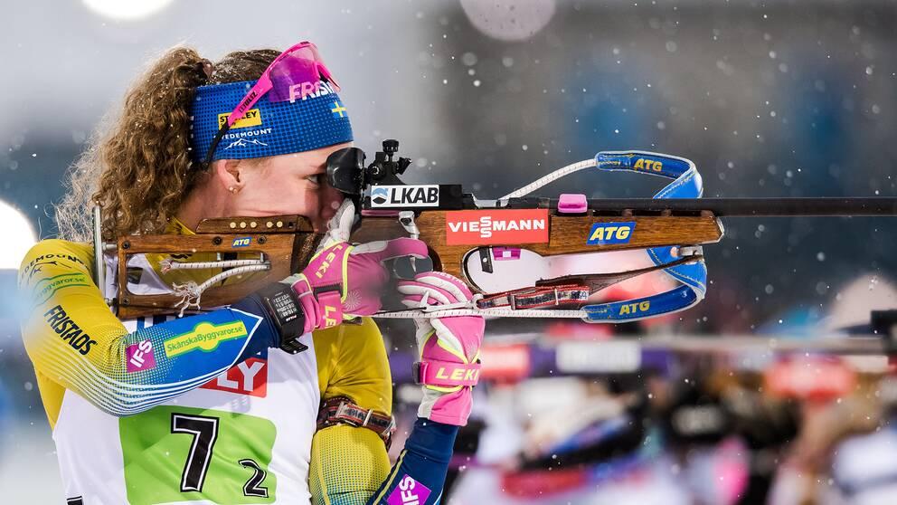 Hanna Öberg tävlar i sprinten i dag.