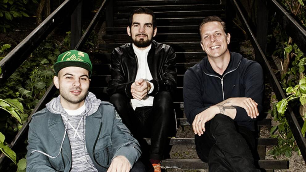 """""""Fatta mans"""" projektledare Shahab Ahmadian, Robert Petersén och Svante Tidholm."""