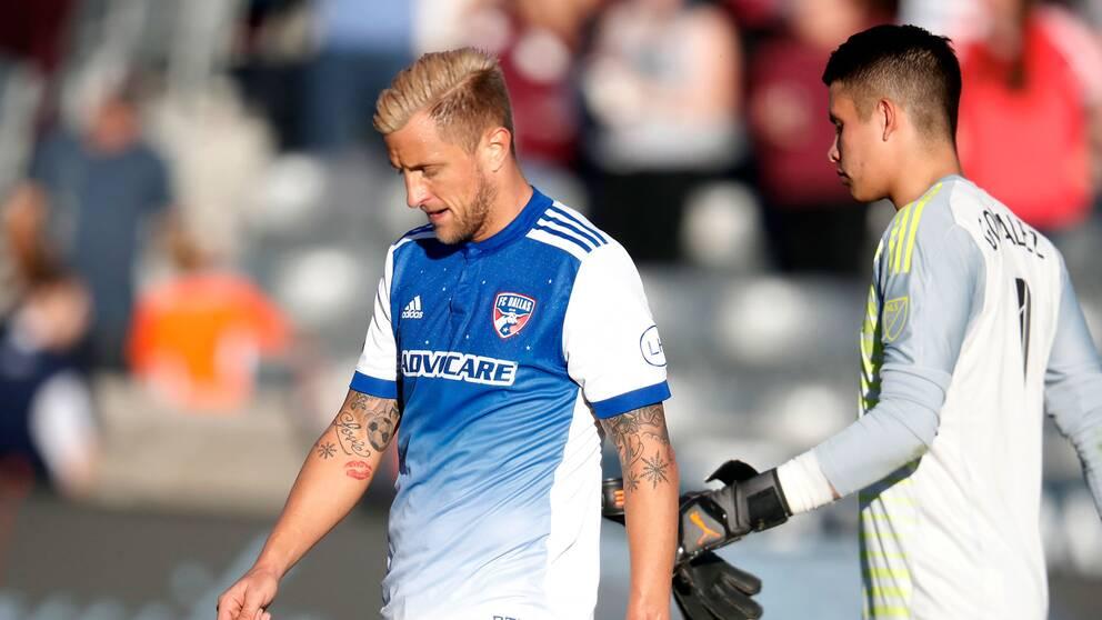 Reto Ziegler, här under en match i höstas, gjorde första målet när Dallas vann över Los Angeles i MLS-fotbollen.