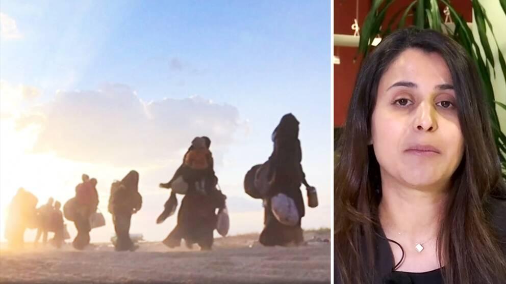 Journalisten och aktivisten Nareen Shammo tror att det blir svårt för yazidierna att återvända till sina gamla hem.
