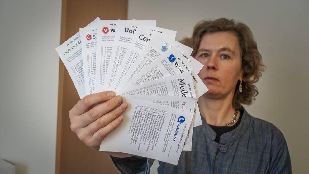Karin Gadde Jennische, valsamordnare på Länsstyrelsen i Gävleborg.