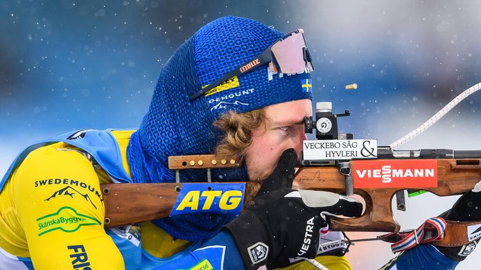 Peppe Femling under distansloppet i VM.