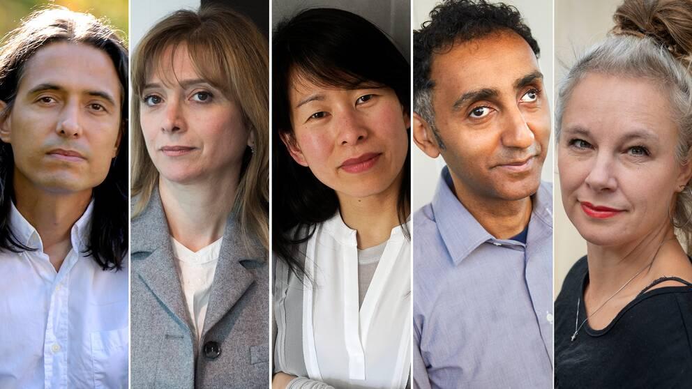 Jonas Hassen Khemiri, Samar Yazbek, Kim Thúy, Sami Said och Sara Stridsberg.