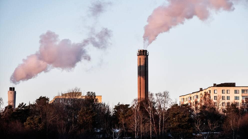 Det koleldade Värtaverket i Hjorthagen i Stockholm.