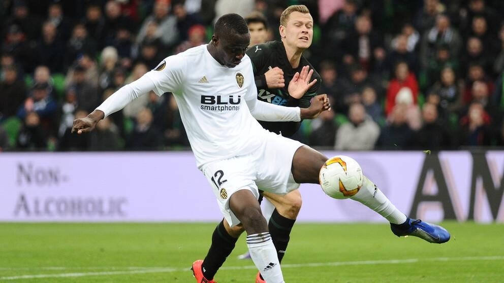 Viktor Claesson i mörkt föll med sitt Krasnodar.