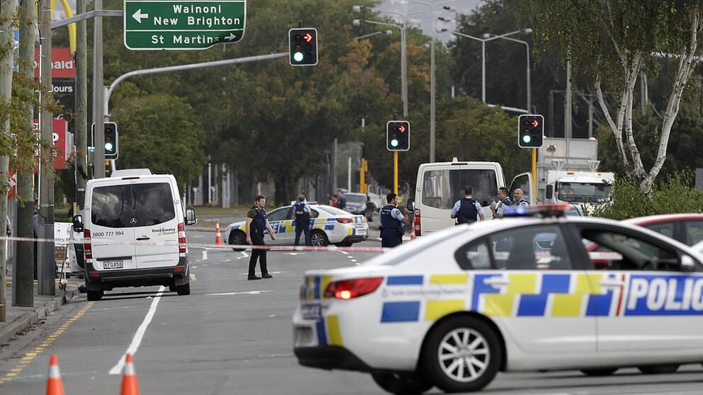 Minst 40 döda i terrrorattack i Nya Zeeland