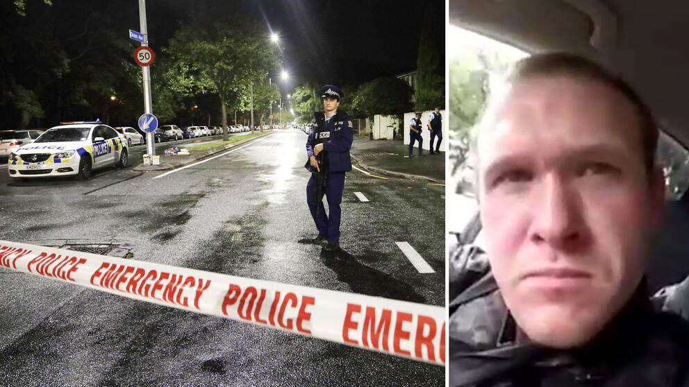 Australiske Brenton Tarrant pekas ut som gärningsmannen bakom moskéattackerna