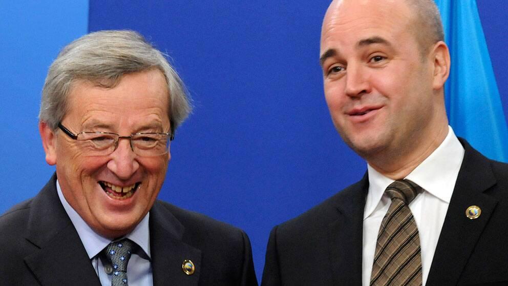 Luxemburgs premiärminister Jean Claude Juncker och Sveriges statsminister Fredrik Reinfeldt.