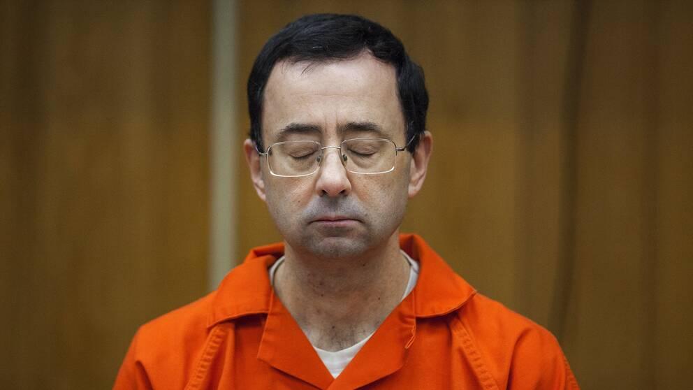 Larry Nassar under rättegången.