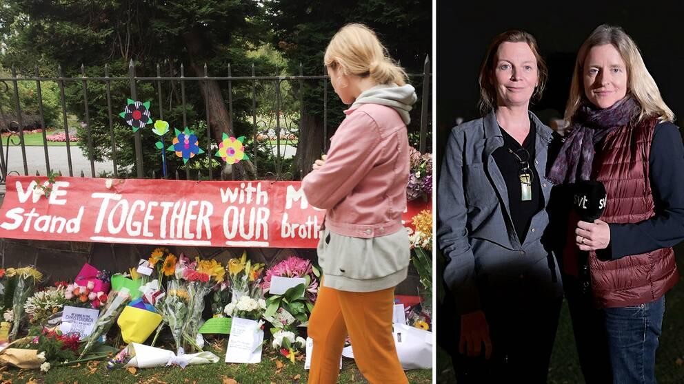 Fotograf Elizabeth Watson och Asienkorrespondent Ulrika Bergsten på plats i Christchurch, Nya Zeeland