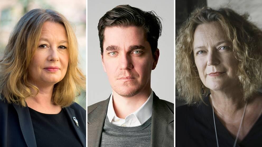Aftonbladets kulturchef, Rysslandsexperten Martin Kragh och Aftonbladets publisher Lena K Samuelsson